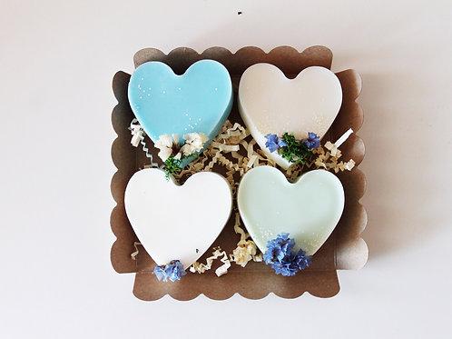 Box big love vue de haut - fresh Ma bougie fleurie