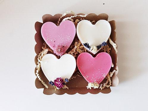 Box big love gourmandise vue de haut - Ma bougie fleurie