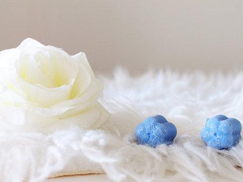 Fondant blue beauty - Ma bougie fleurie