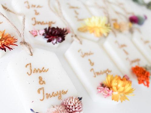 Fondant fleurie mariage - Ma bougie fleurie