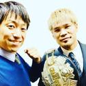 日本スーパーフェザー級チャンピオンの坂晃典選手が、チャンピオンベルト獲得の報告に