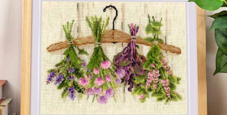 Drying Flowers in the Autumn