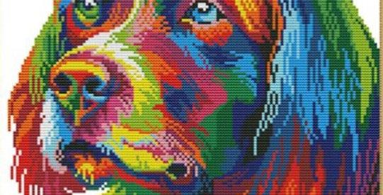 Faithful Friend: Counted Cross Stitch Kit 14CT (34x34cm)  The Rainbow Range