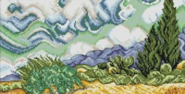 Under the Sky - Counted Cross Stitch Kit 14CT 40x32cm