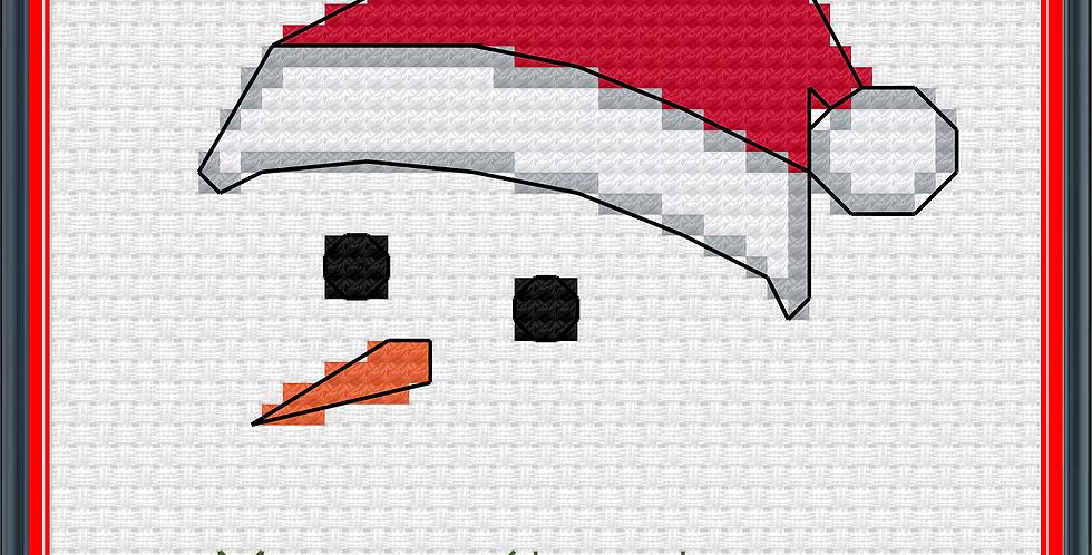 Personalised Handmade Card Kit: Snowman Profile