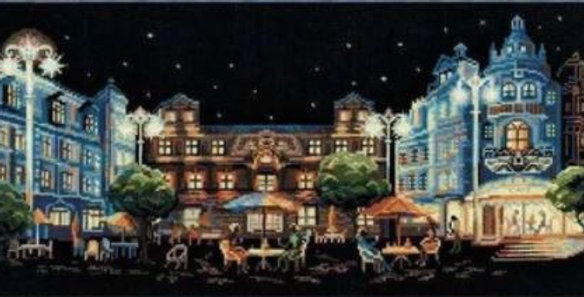 Night Cafe Counted Cross Stitch Kit 14CT 46x24cm