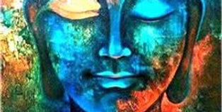Gentle Buddha: Printed Cross Stitch Kit 11CT