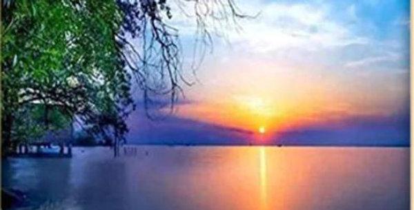 Sunset over the Lake Printed Cross Stitch Kit 11CT 30x40cm