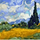 Thumbnail: Wheat Field with Cypresses Counted Cross Stitch Kit 14CT 40x32cm