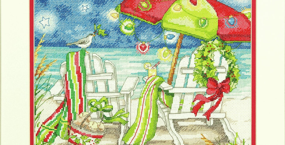 Christmas Beach cross stitch kit (DIMENSIONS)