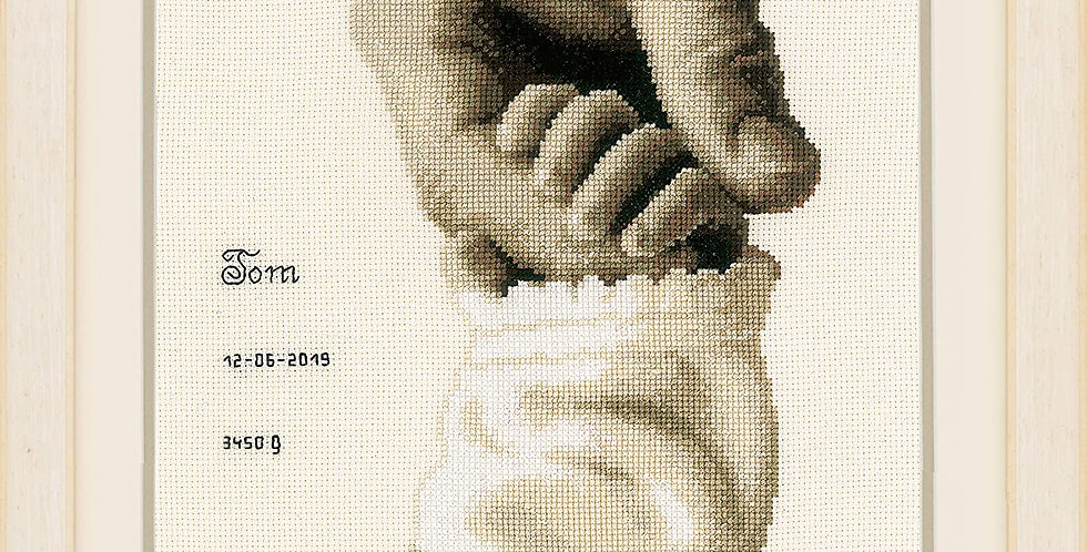 Vervaco: Baby Love Personalisable Cross Stitch Kit