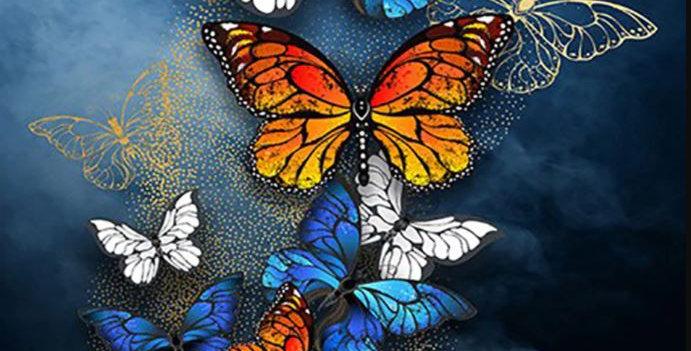 A Kaleidoscope of Butterflies : Printed Cross Stitch Kit 11CT