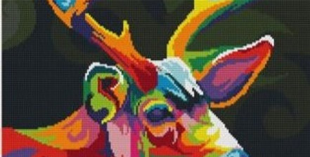 Imperial Stag: Counted Cross Stitch Kit 14CT (39x52cm)  The Rainbow Range