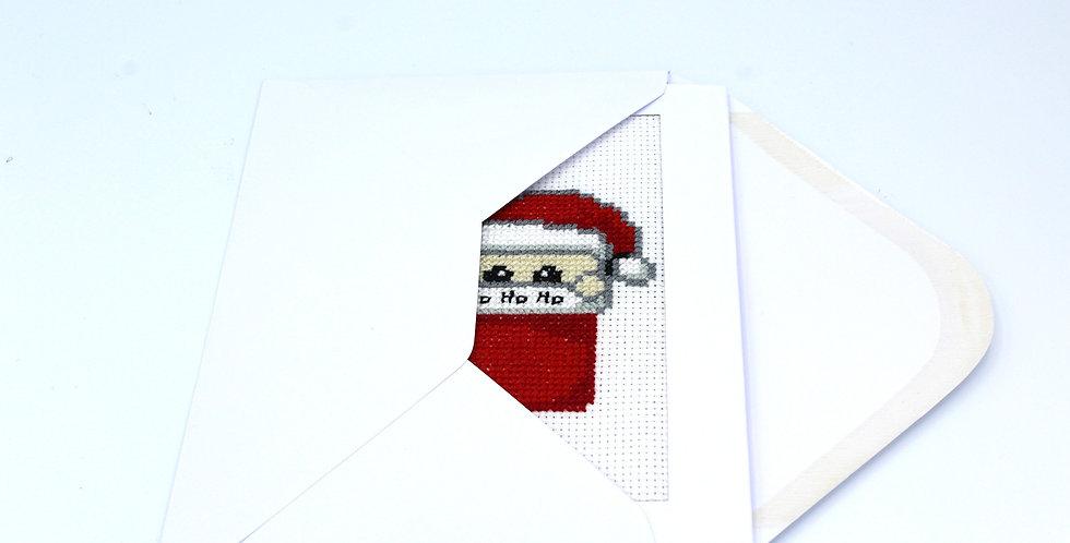 Handmade Card Kit: Santa in his Stocking