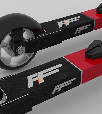FF Skate rulleski inkl. binding og skjermer