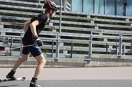 Eirik Mysen in action testing ff skate in holmenkollen