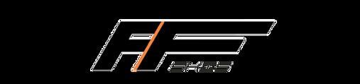 FF Skis logo i sort med hvit bakgrunn
