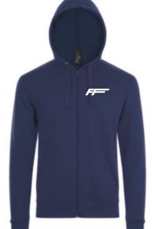 Hoodie med FF logo på