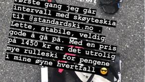 Gode skussmål for standardski.no  Fra Eirik Mysen.