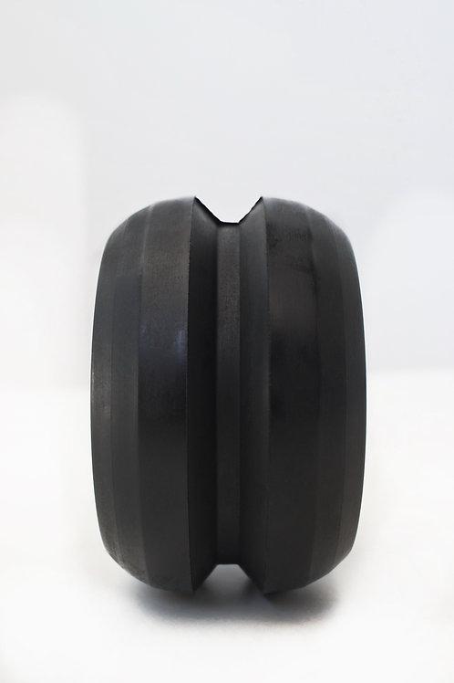sort gummi V spors fremhjul til rulleski