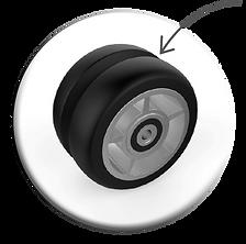 v-spors hjul til rulleski med felg