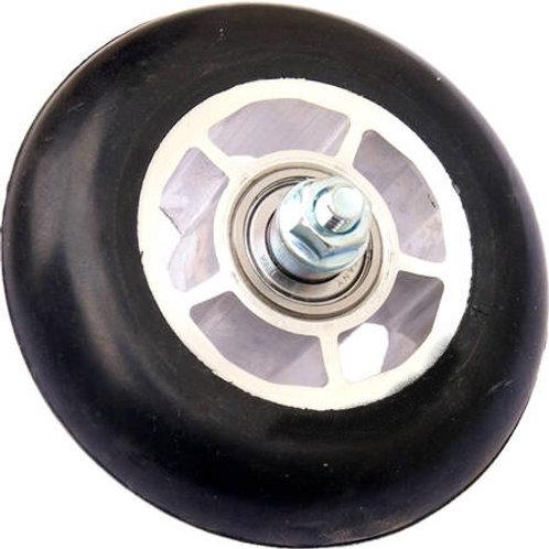 bilde av rulleski hjul junior skate med blank 5 eiket felg og sort gummi til idt og swenor