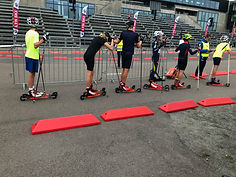 Lyn Ski member using ff skate junior skis in holmenkollen
