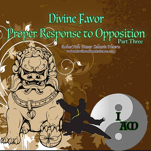 Divine Favor Part Three: Proper Response to Opposition MP3