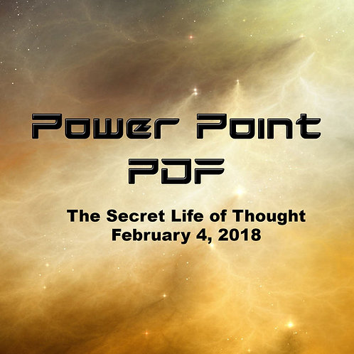 The Secret Life of Thought PDF February 4, 2018