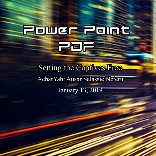 Setting the Captives Free Power Point PDF