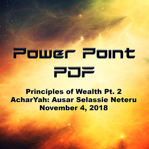 Principles of Wealth Part Two PDF