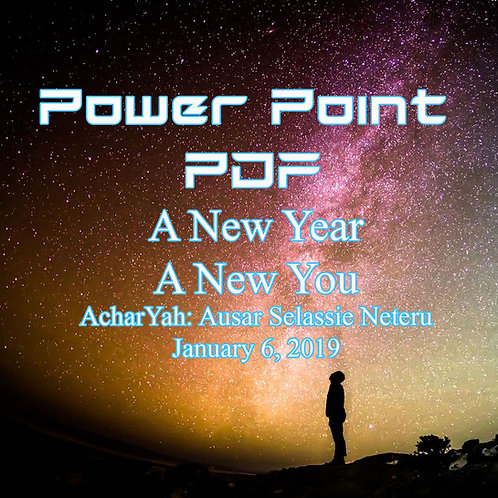 A New Year A New You Power Point PDF