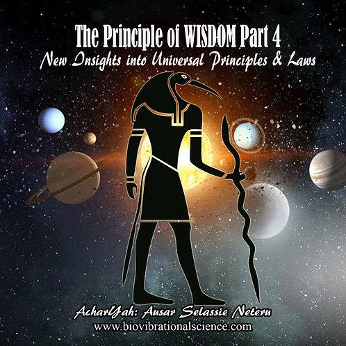 The Principle of Wisdom Part 4 MP3