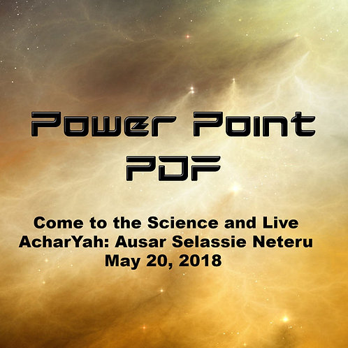 Come to the Science and Live