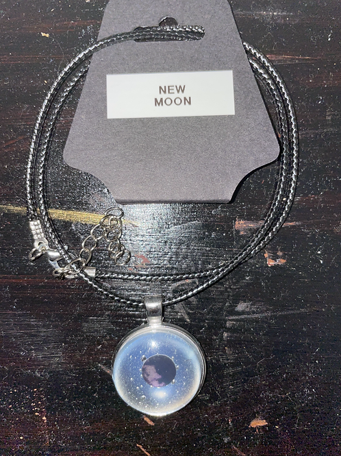 New Moon Phase Necklace