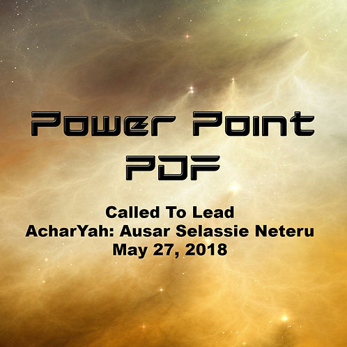 Called To Lead Power Point
