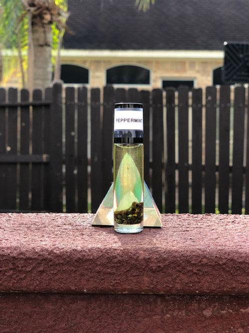 Peppermint Oil w/Peppermint leaves