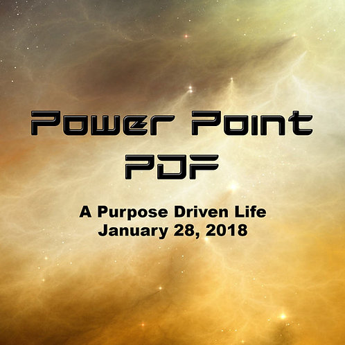 A Purpose Driven Life Power Point