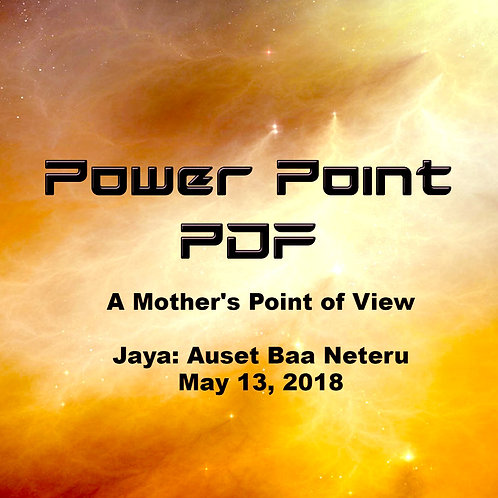 A Mother's Point of View Power Point PDF