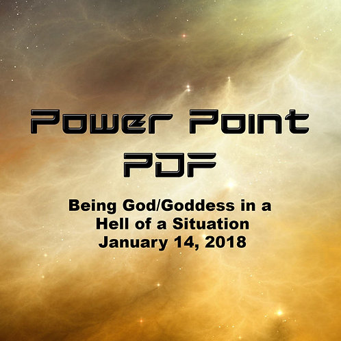 Being God Goddess in a Hell of a Situation Power Point