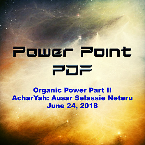 Organic Power Part II PDF June 24, 2018