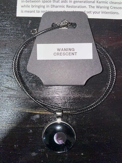 Waning Crescent Moon Phase Necklace