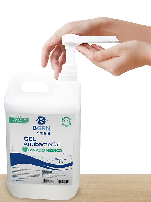 Gel Antibacterial BGrn Shield - 5 litros