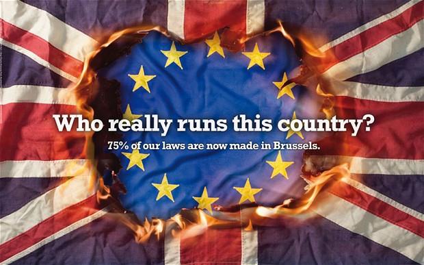 UKIP Poster - Union Jack Burning