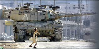 Palestinian kid vs tank