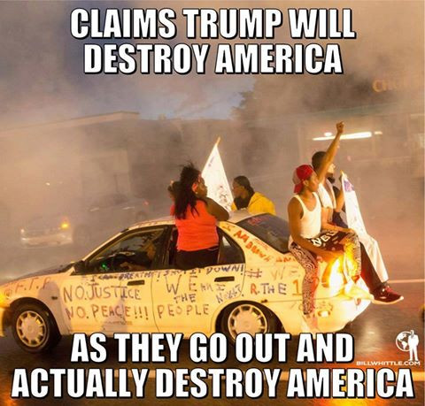 Violent anti-trumpers