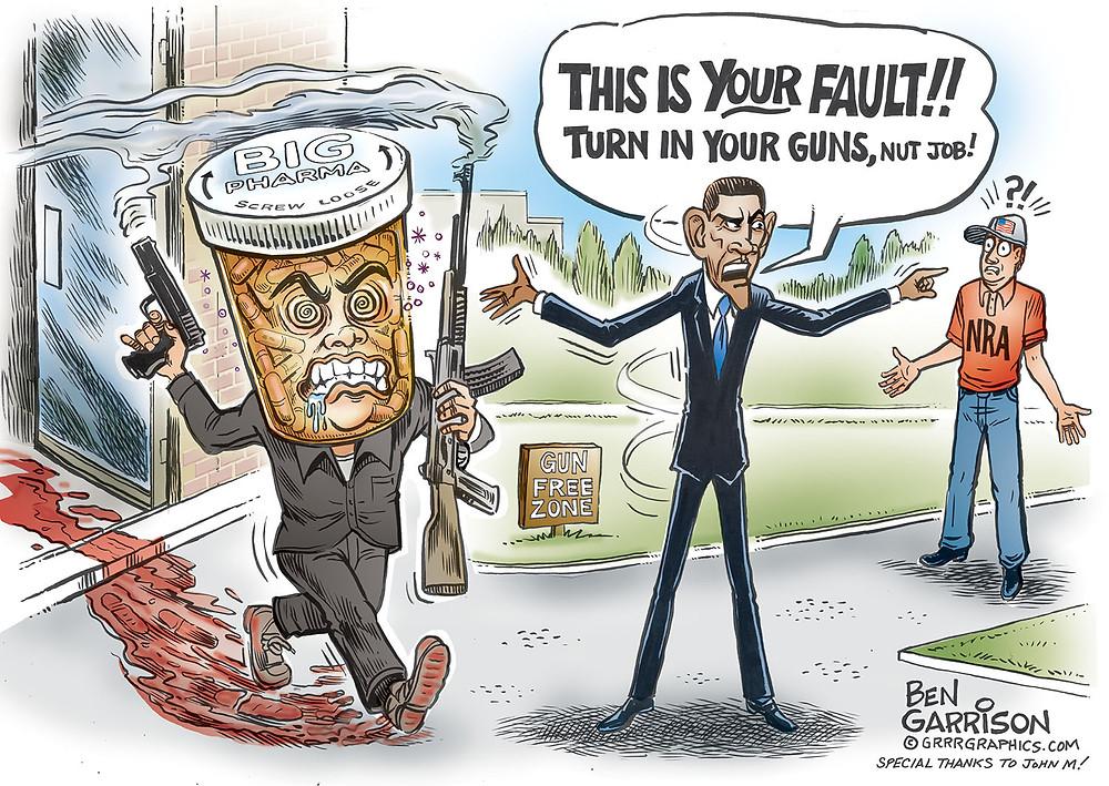 Ben Garrison pill head gun control