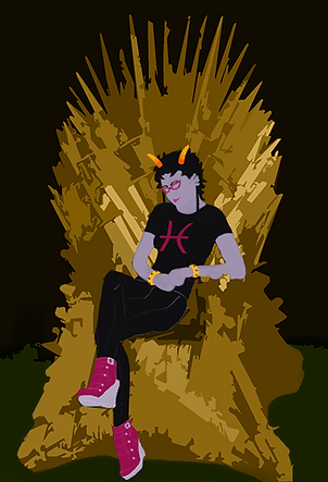 My avatar, as Meenah on a golden Iron Throne