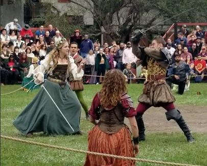 Maid Marion swordfighting