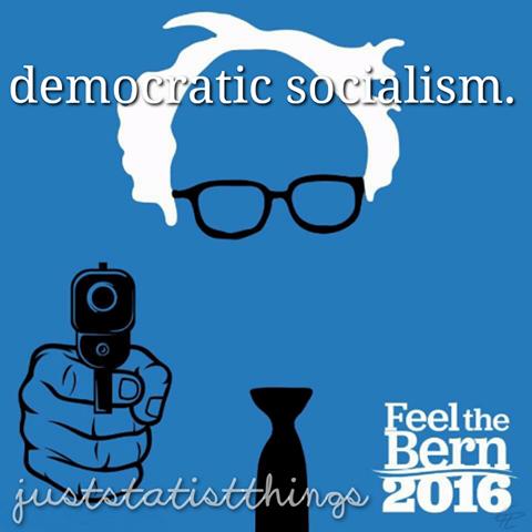 Bernie Gun Democratic Socialism